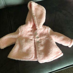 Newborn fluffy coat for girls